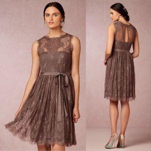 06297ff56763 Anthropologie. Hitherto Anthro BHLDN Brown Lace Celia Dress